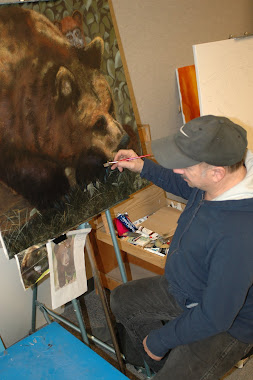 Me painting the Bears