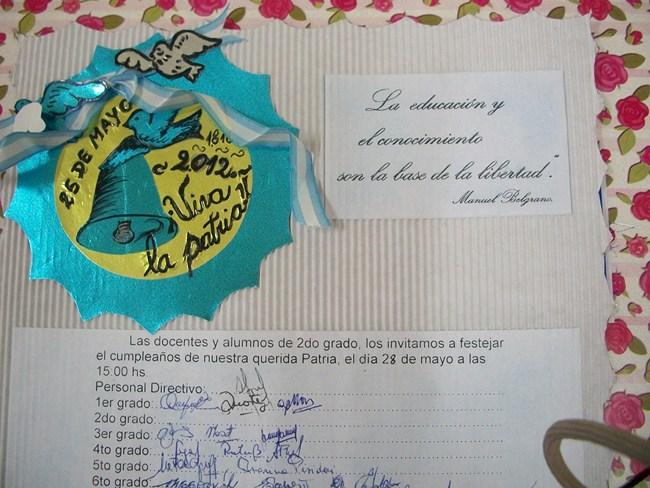 Decoinfantil Tarjeta De Invitación Acto 25 De Mayo