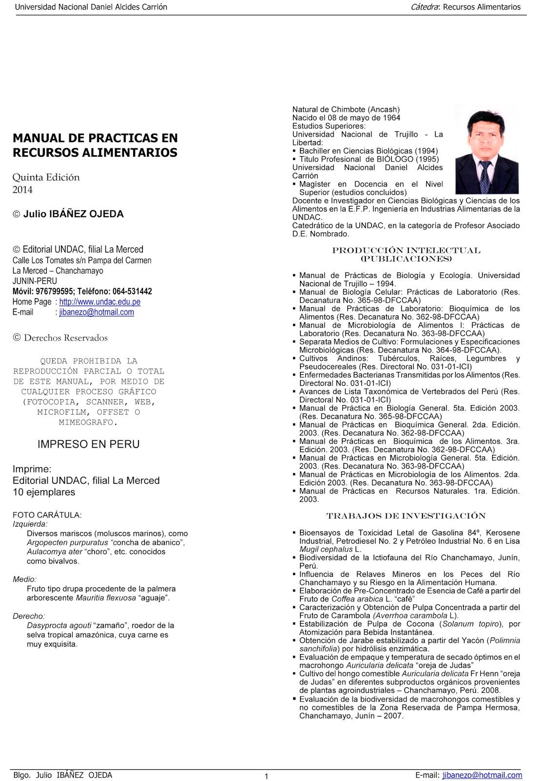 MANUALES DE PRACTICAS DE LABORATORIOS: Manual de Practicas