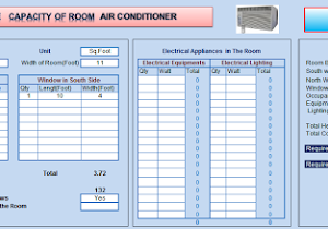Mep work room air conditioning size calculator excel sheet greentooth Image collections