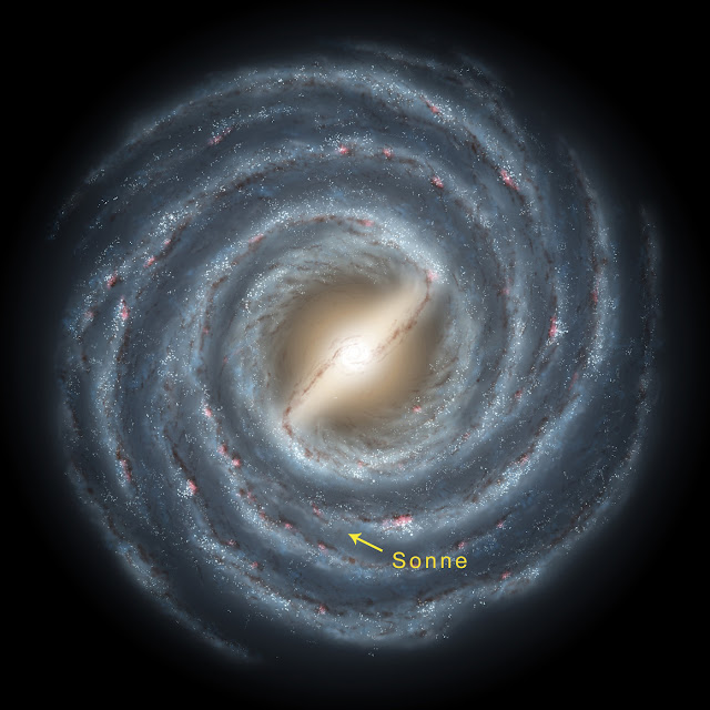 The backbone of the night: Like a huge spiral, the Milky Way floats in space