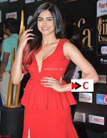 Adah Sharma in Red Deep Neck Spicy Gown ~  Exclusive 19.jpg