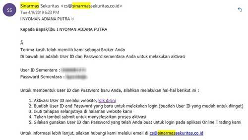 Email Konfirmasi Rekening Aktif