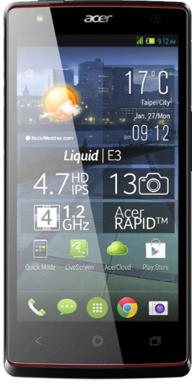 Acer Liquid E3 - Firmware, Custom Roms and Recovery | Phonetweakers