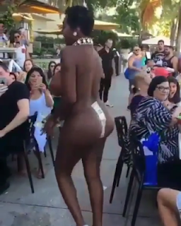Viral video of black woman dancing naked in public to Sia's 'Cheap Thrills'