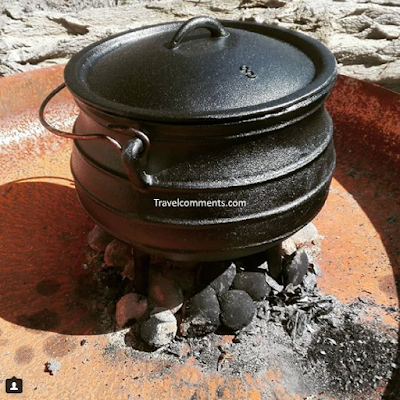 Potjie, Potjiekos, Oxtail Potjie, South Africa, recipe, outdoor cooking, dutch oven