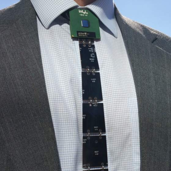 reversible necktie made from real circuit boards! gadget explainedreversible necktie made from real circuit boards!
