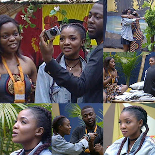 #BBNaija: Simi Paid A Surprise Visit To Paradise Dwellers Bisola And Bally
