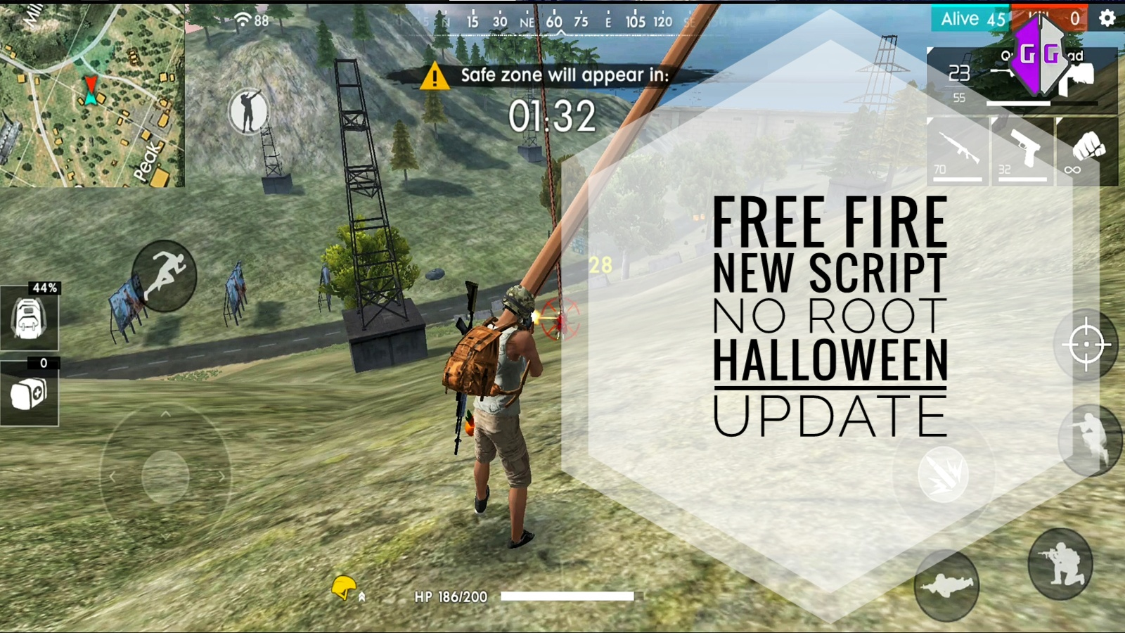 FREE FIRE NEW SCRIPT- MOD APK - HACKS HALLOWEEN UPDATED ANDROID