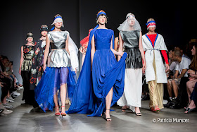 Royal Blue gown and finale  - Maaike van den Abbeele at Amsterdam Fashion Week