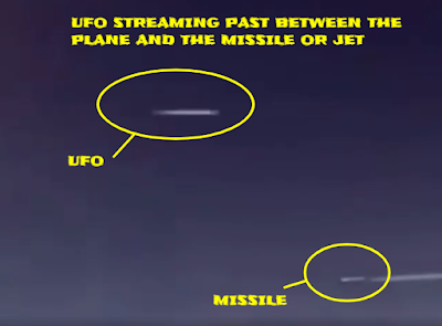 Both the Jet and the UFO seen together in the same video.