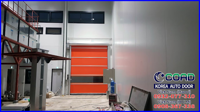 Cửa cuốn siêu tốc, cửa đóng mở nhanh, cửa cuốn nhựa pvc, cửa cuốn công nghiệp, COAD