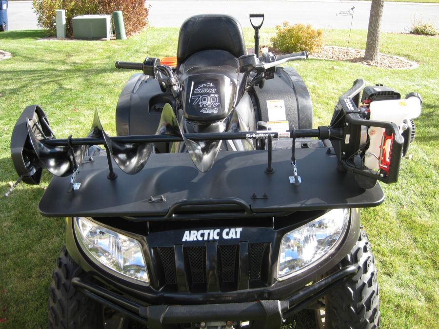 Jaws of Ice Ice Auger Carrier | The Weeders Digest |Ice Auger Mount