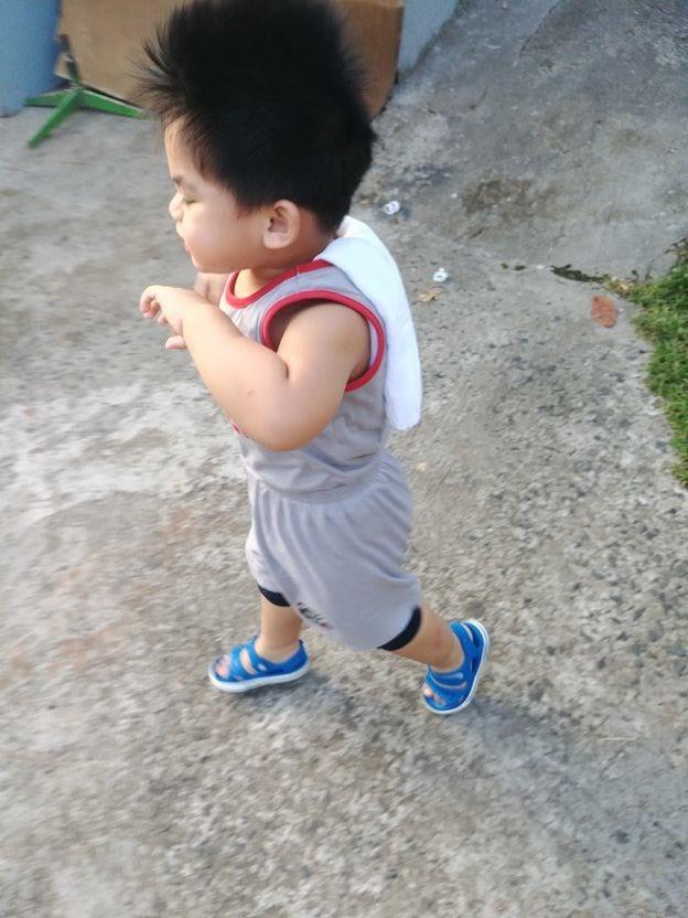 Baby boy enjoying unlimited playtime or Unli Dapa