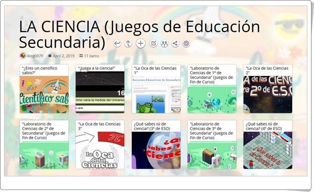 """""""11 juegos sobre CIENCIA en Educación Secundaria"""""""