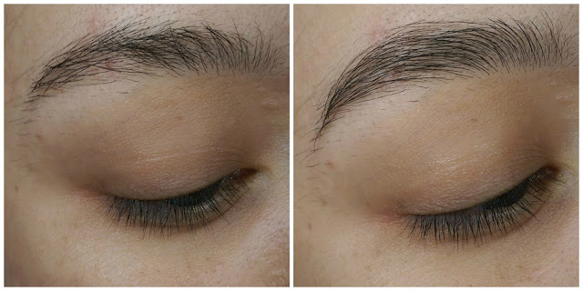 Soap eyebrows before and after