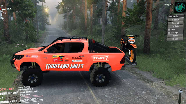 Re-edit Mod Toyota Hilux 2016 Spintires Thousand Miles