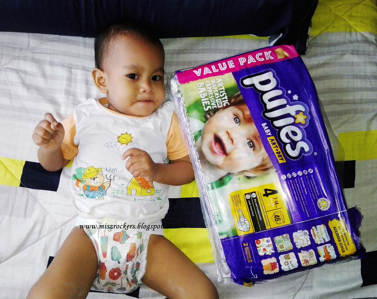 PAMPERS PUFIES BABY ART + DRY