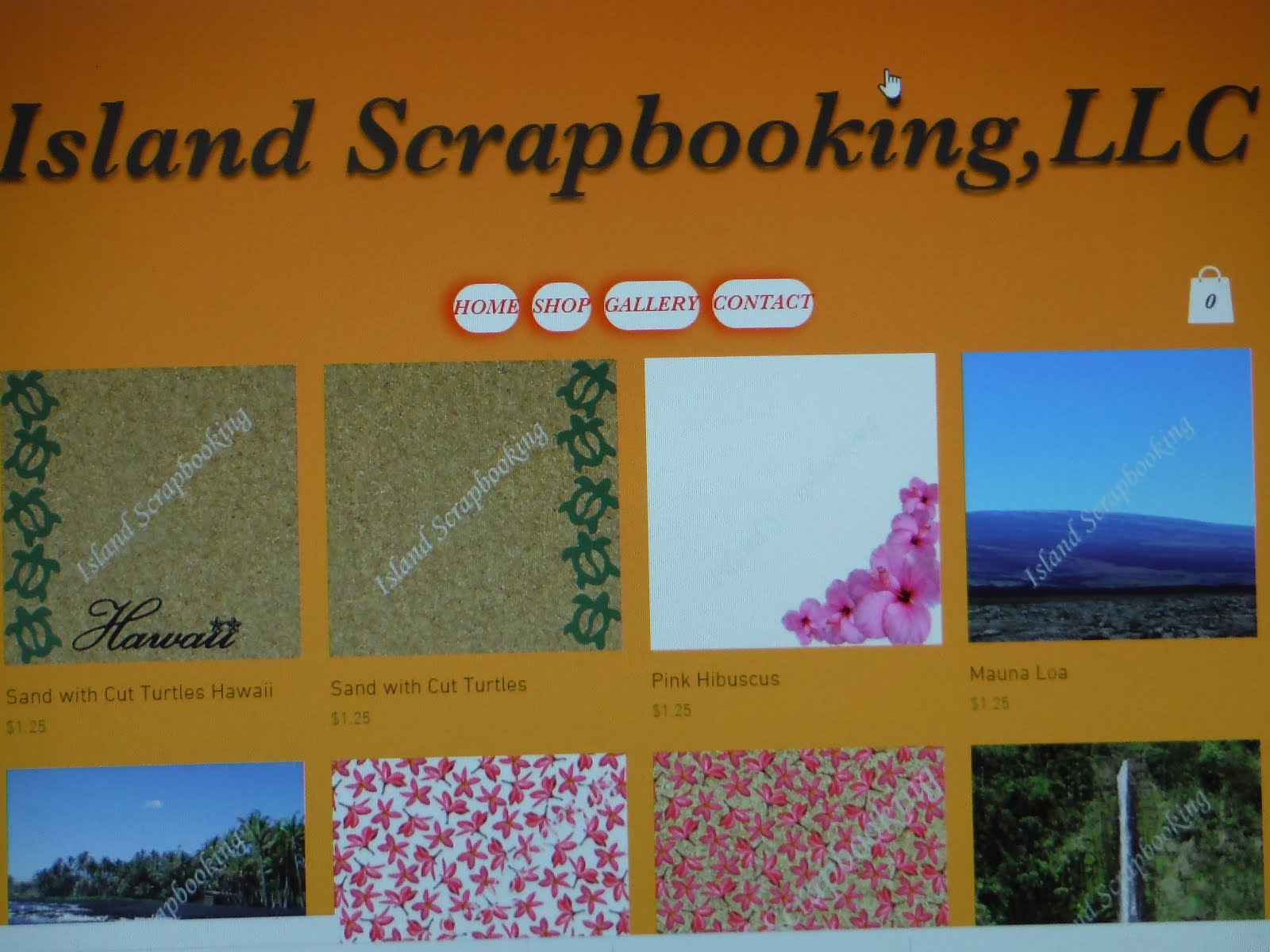 Island Scrapbooking's New Website