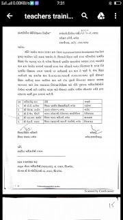 जिल्ला विकास अधिकारीश्री  और मान कलेक्टर सर करेगे शिक्षक तालीम का मॉनिटरिंग देखिए पत्र नर्मदा