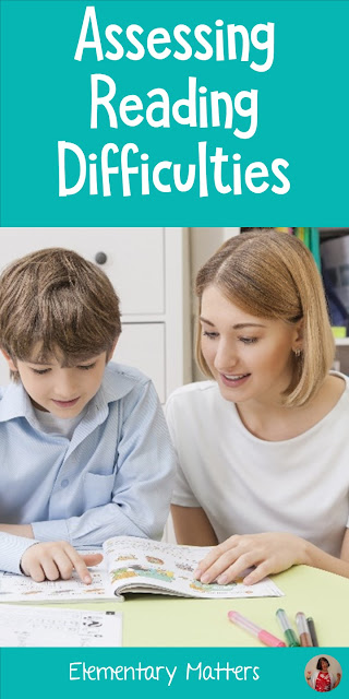 Assessing Reading Difficulties: Here are some ideas to help figure out what instruction struggling readers need for improvement