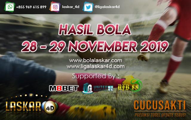 HASIL BOLA JITU TANGGAL 28 – 29 NOVEMBER 2019