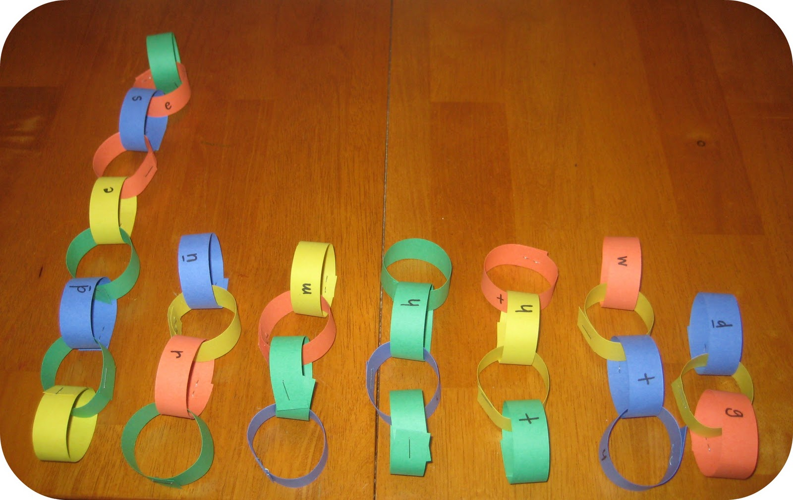 Relentlessly Fun Deceptively Educational Paper Word Chains