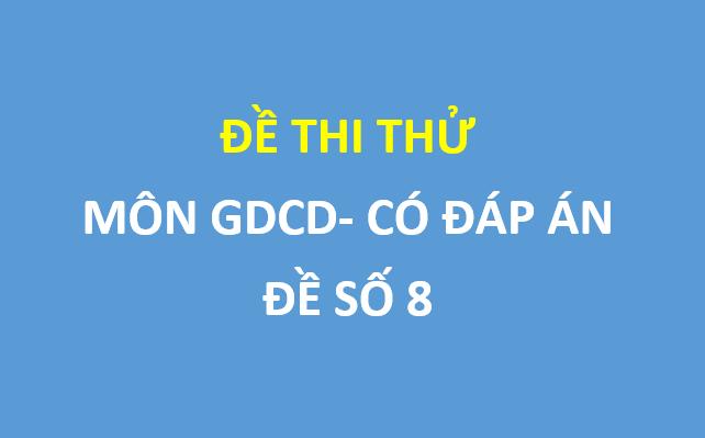 Đề thi thử GDCD trường Đoàn Thượng – Hải Dương lần 2