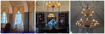 particolari degli arredi interno originali che si possono vedere nella Real casina Vanvitelliana