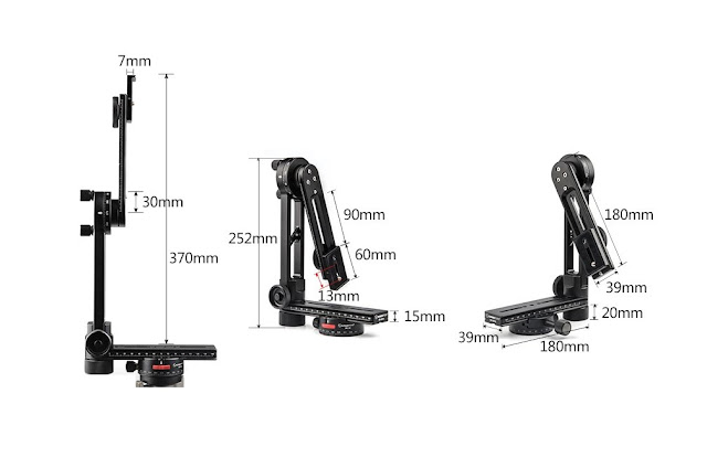 Sunwayfoto CR-3015 Pano Head dimensions