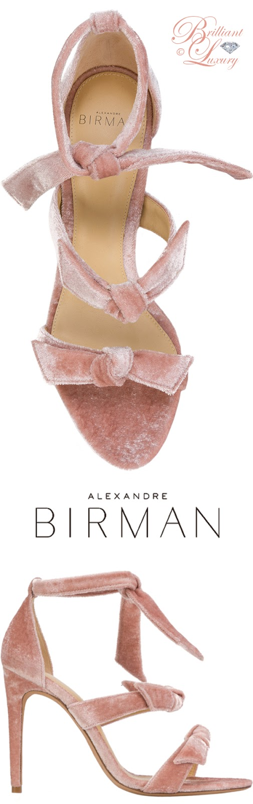 Brilliant Luxury ♦ Alexandre Birman three bow sandals