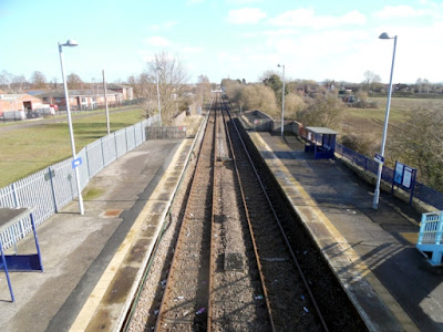 A loft view from the Brigg railway station footbridge, looking towards Kettleby and Barnetby - February 2019