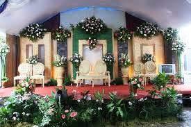 dekorasi pernikahan di rumah