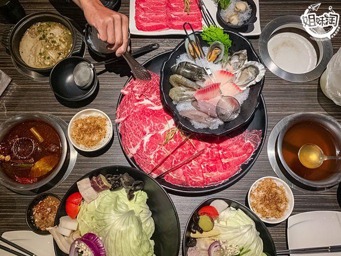 華麗的大肉盤肉控絕對滿足你,開到凌晨宵夜好夥伴就是你-肉多多火鍋
