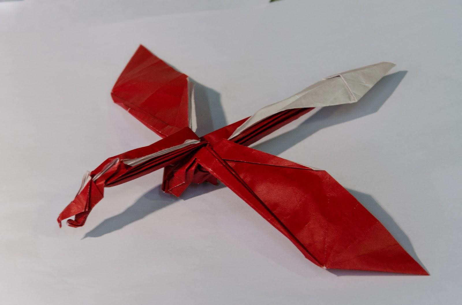 origa mania origami drache by charles esseltine. Black Bedroom Furniture Sets. Home Design Ideas
