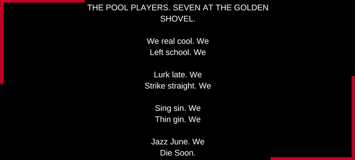 Gwendolyn Brooks We Real Cool (text)