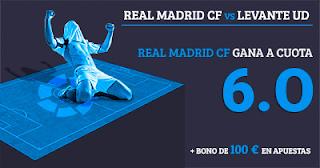 Paston Megacuota 6 gana Real Madrid vs Levante + 100 euros 9 septiembre