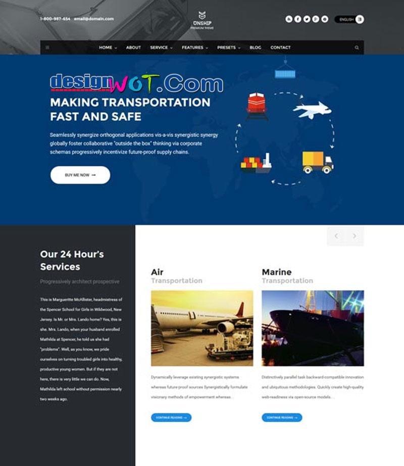 Unship TransPort WordPress Theme