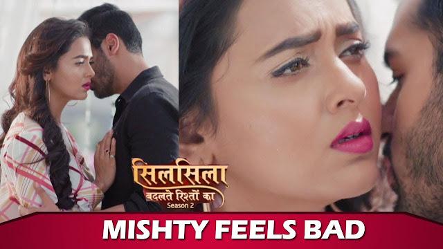Ruhaan Mishti intimate, first sensuous kiss of Silsila Badalte Rishton Ka Season 2