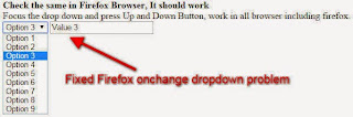 Firefox dropdown Onchange not working problem