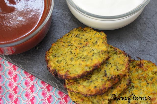 tortitas de brócoli y calabaza