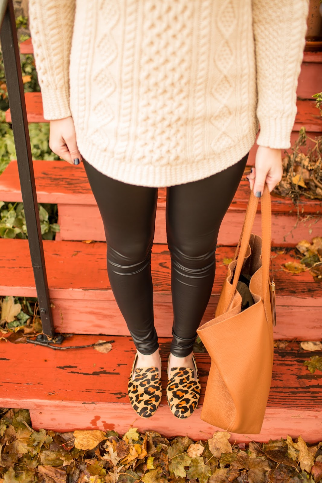 The Black Barcode: Leather Leggings the Easy Way