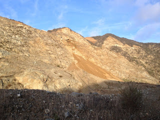 View of west wall from the Fish Canyon access trail in Vulcan's quarry