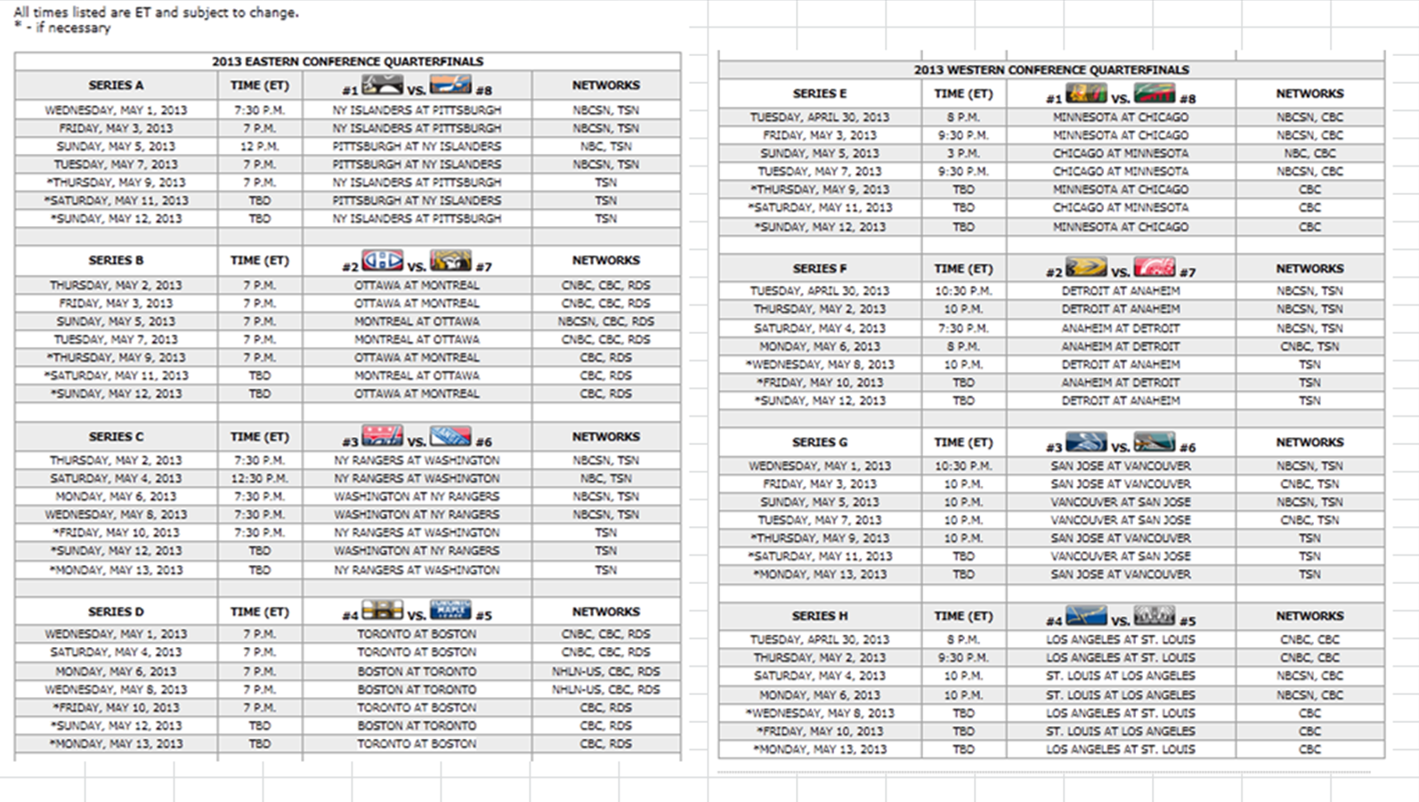Sassy image intended for printable nhl playoff schedule