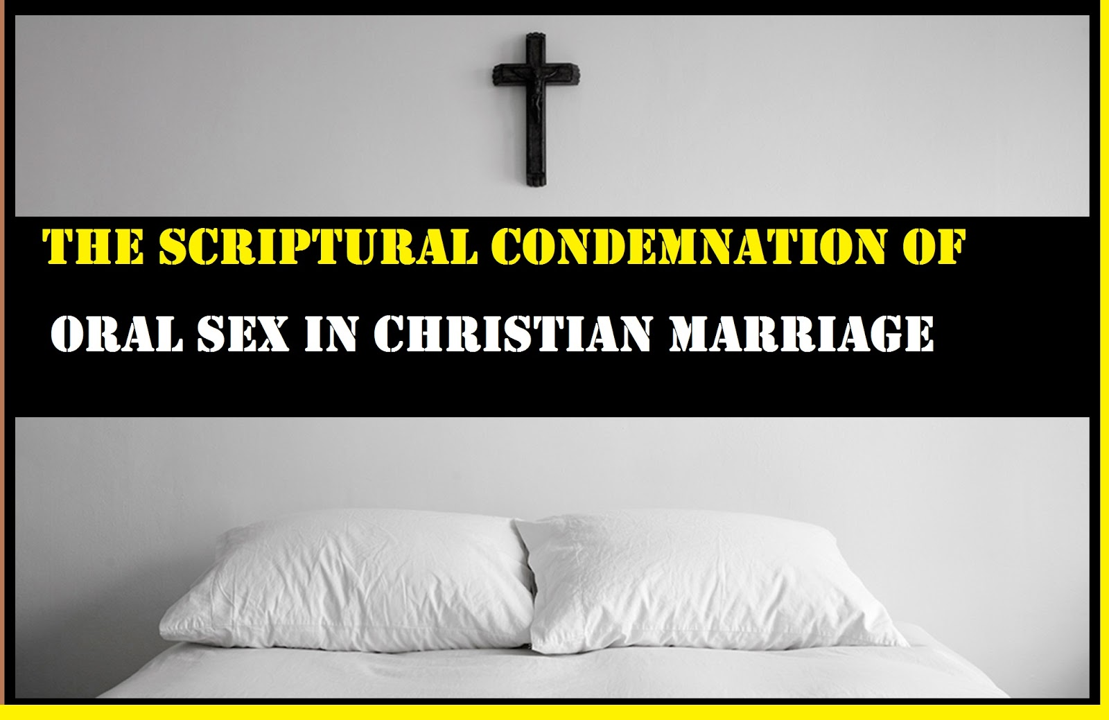 Oral sex is okay for christians