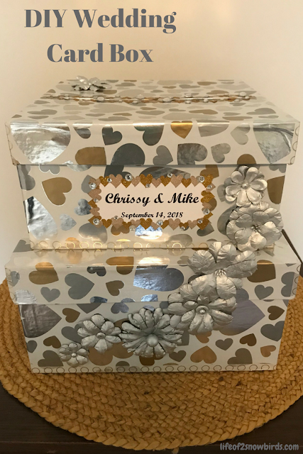 Personalize your wedding by making this DIY Wedding Card Box! Get the instructions at www.abrideonabudget.com.