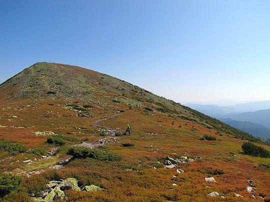Przełęcz przed Sywulą Małą.