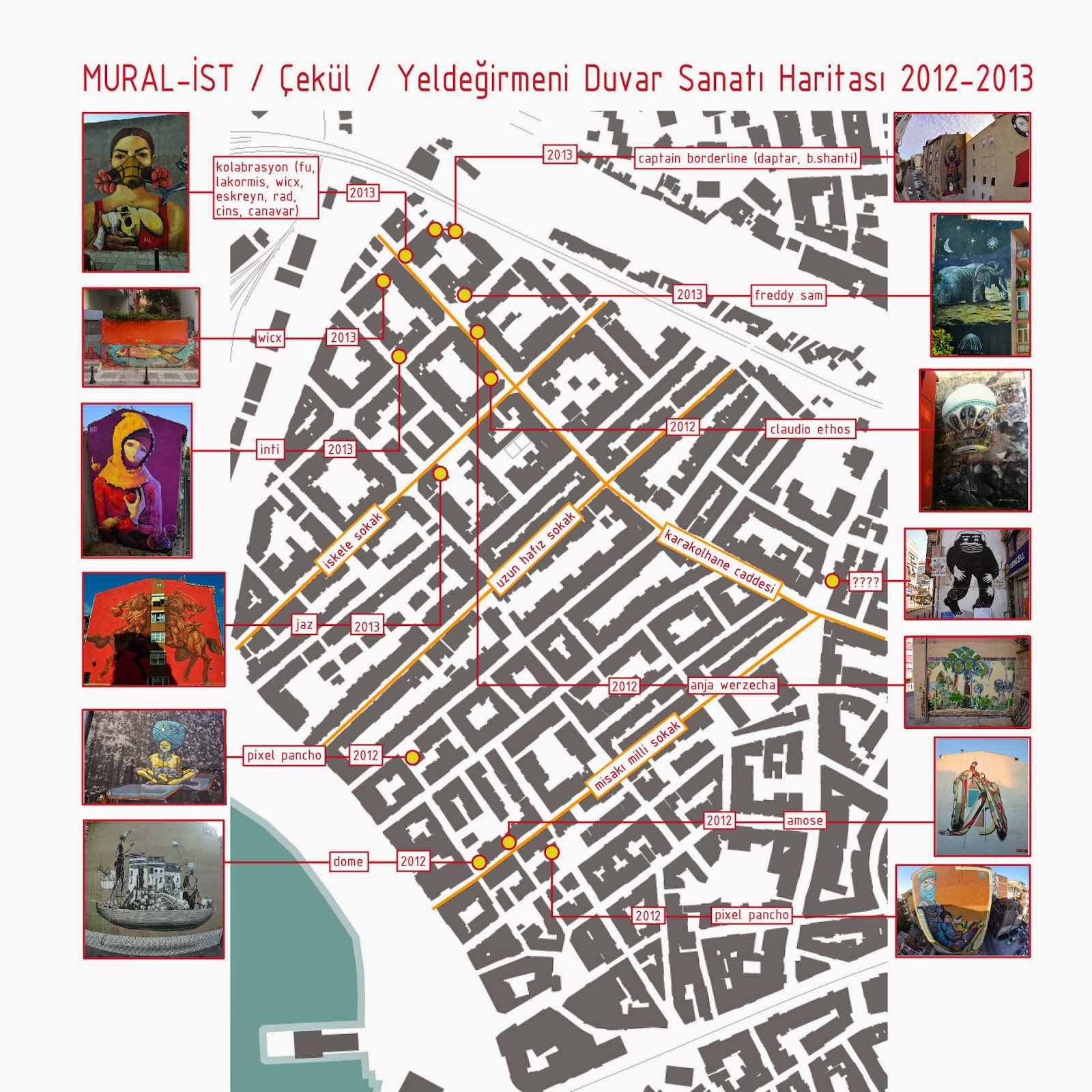 yeldegirmeni street art map