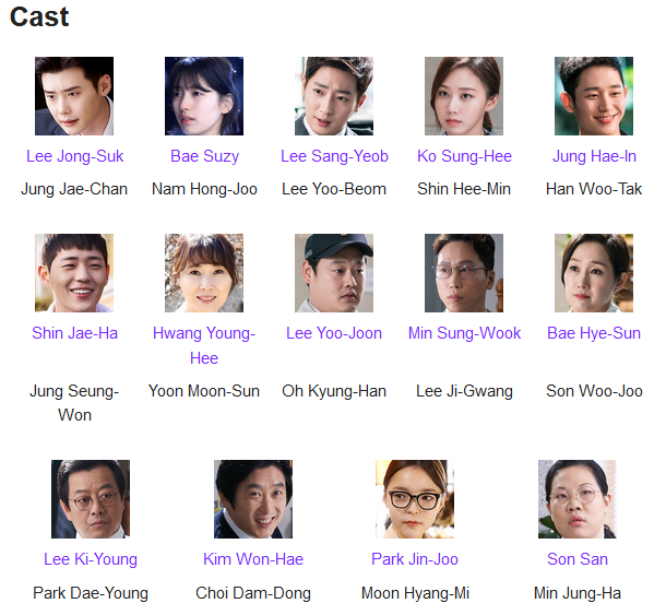 While You Were Sleeping K-Drama Cast