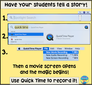 It is easy to record a student narrative on a Mac!
